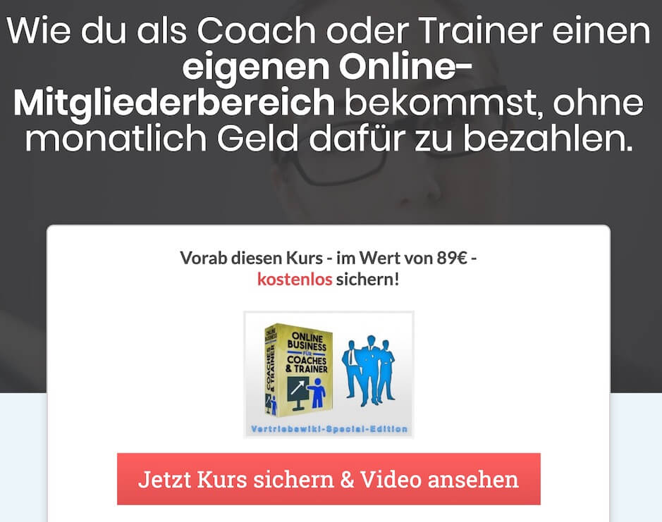 Coach und Trainer Funnel